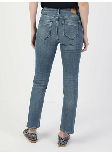 Colin's 703 Carla Orta Bel Düz Paça Slim Fit Mavi Kadın Jean Pantolon İndigo